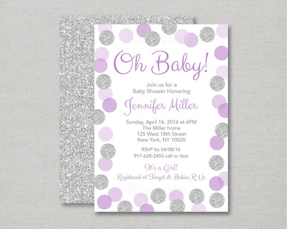 Glitter dot baby shower invitation glitter baby shower invite il570xn filmwisefo Choice Image