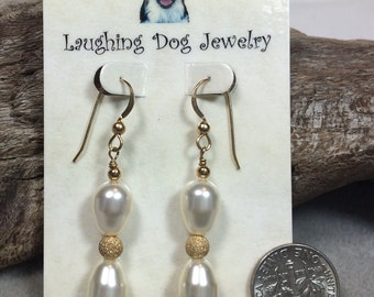 Swarovski Pearl and Gold-Filled Earrings