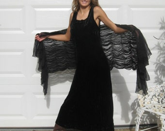 black Velvet Dress . crushed black velvet dress . crushed velvet dress. bombshell dress . stretch velvet dress