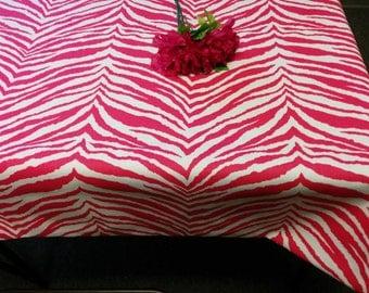PINK ZEBRA TABLECLOTH  Candy Pink, Fuchsia, Hot Pink, Zebra Wedding, Bridal