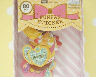 SALE 1 box  / 80 Sticker Flakes / Sweets