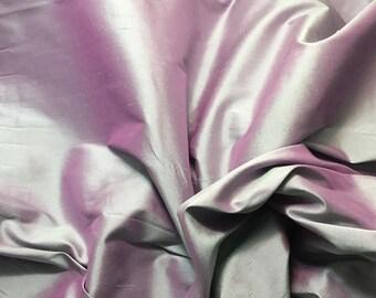Lilac & Lavender Silk DUPIONI Fabric - 1 Yard