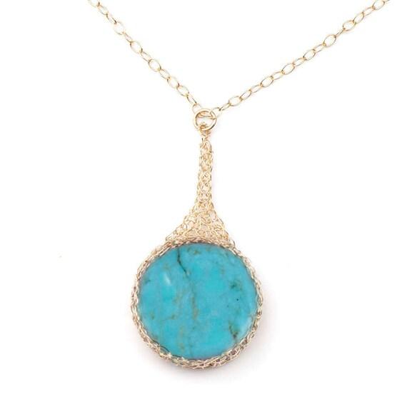 Turquoise Pendant Necklace, Gold Pendant Necklace, Unique pendant for woman, Unique Turquoise jewelry, Turquoise Necklace, Gemstone Jewelry