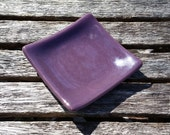 Purple Little Fused Glass Dish - Spoon Rest - Trinket Dish - Soap Dish