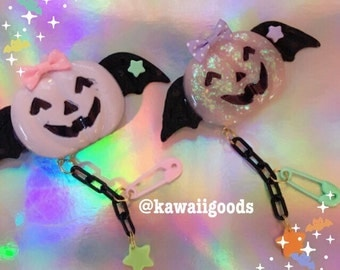 Pastel pumpkins 2-way clip
