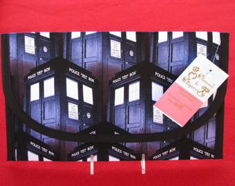 Tardis Diaper and Wipes Case Holder Clutch