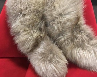 Genuine Blonde Fur collar with Fabric Backing