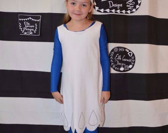 Little Blue Girl Dress and Catsuit - sizes 2-16 girls