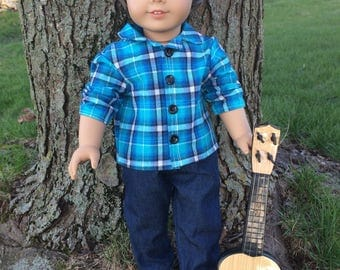 """18"""" Boy Doll Outfit for American Girl Dolls"""