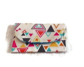 Bright Triangles and Stripes Card Wallet