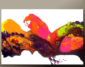 Abstract Canvas Art Painting Canvas 36x24 Original Modern Contemporary Paintings by Destiny Womack - dWo - Daydreams