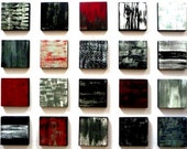 12 Additional Poetic Blocks in Black/White/Gray/Silver/Red