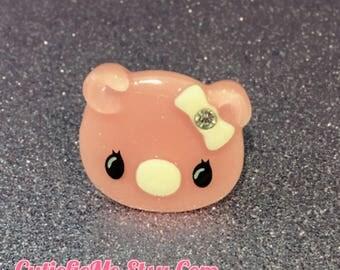 Pink Pig Ring