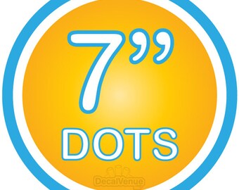 """7 inch Polka Dot Circles Wall Decals - Choose colors - Mix and Match dots vinyl stickers 7"""" seven"""