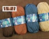 "Inkle Weaving Yarn and Pattern Pack, Yarn, Designs for Weaving 1"" Inkle Bands, Weaving Pattern Drafts, Cotton Yarn Assortment #7"