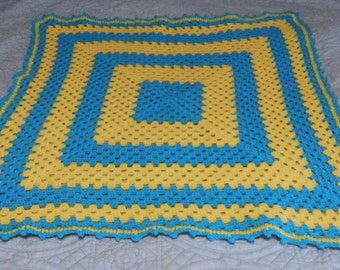 A Brand New Handmade Crocheted Baby Afghan 36 inches Square