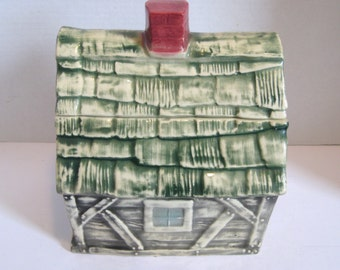 Vintage Brush Pottery Cookie House Cookie Jar
