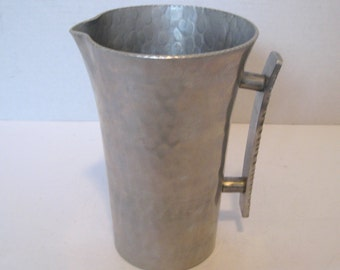 Vintage Hand Forged Retro Aluminum Pitcher