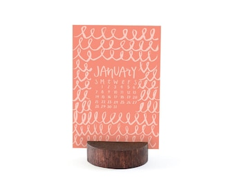 2018 Letterpress Calendar *Refill* // 1canoe2