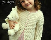 Download Now -CROCHET PATTERN Kindred Spirits Cardigan - Sizes 0-6 mos to 12 Years - Pattern PDF