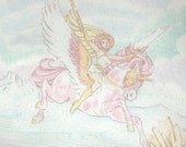 1980s She-Ra linens / 80s bedding / She-Ra Kids Twin Fleece Blanket