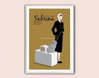 Sabrina film poster print in various sizes