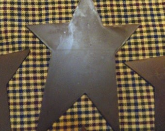 8 pieces of 4 Inch Rusty flat metal star Crafts Primitive