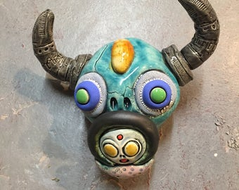 Cow Skull, day of the dead, wall hanging
