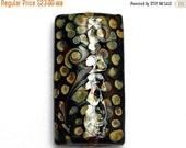 ON SALE 40% OFF Brown w/Beige Dots Kalera Focal Bead -11808703 - Handmade Glass Lampwork Beads