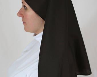 24 inch Brown Veil Catholic Nun, Nuns Habit NEW