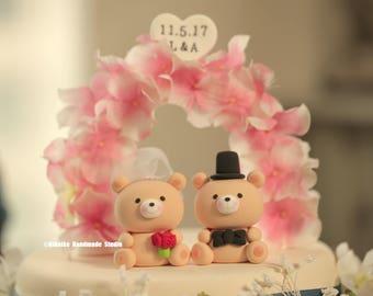 bear wedding cake  topper---909