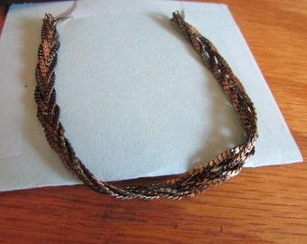 gold twist necklace