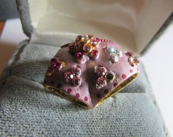 Pink under pants brooch