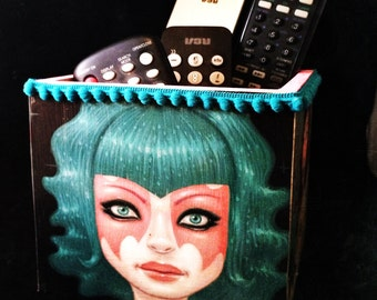 TARA McPherson INSPIRED Pencil Holder Cup Supply Container Comic Upcycled