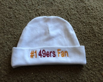San Francisco 49ers Football Baby Infant Newborn Hat Beanie Hat Cap