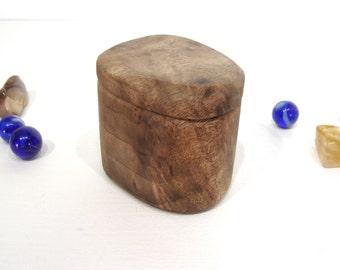 Oregon Myrtlewood Box, presentation box, engagement ring box, proposal box, earring box, ring bearer box, guitar pick holder, eco gift box