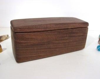 Black Walnut Wooden Box, wedding, cuff links box, groom gift, wood jewelry box, gratitude box, watch box, pen box, office desk organizer