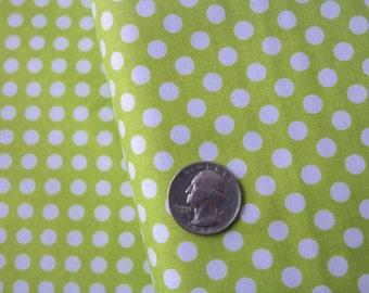 Small Dot Dots, Lime, Chartreuse, C350-32, Basics, Riley Blake