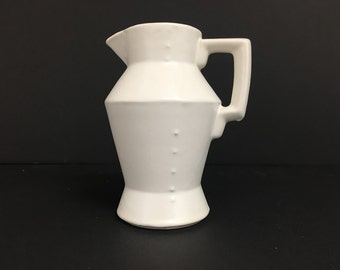 Vintage White McCoy Matte Ceramic Pitcher | TIN MAN