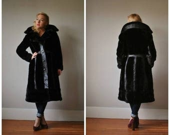 SPRING SALE 1970s Dark Chocolate Princess Coat~Size Extra Small to Small