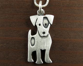 Larger Jack Russell terrier necklace / pendant