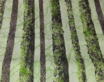 Quilt Fabric Journey's Beginning Wilmington Prints Green Stripe 1 yard Cotton Fabric Quilting Sewing Crafting