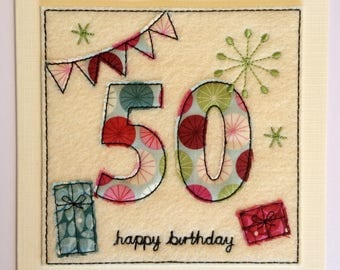 Age 50 - 50th Happy Birthday Card