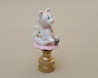 Kitten Lamp Finial...Hand Crafted to Order