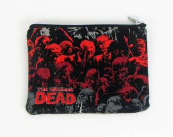 The Walking Dead, credit card case, business card holder, coin pouch, change purse, womens purse, credit card wallet,  minimalist wallet