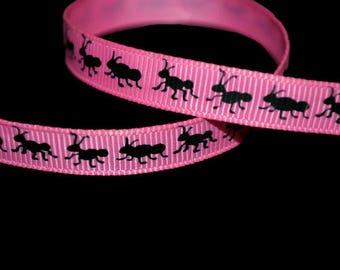 Ant Ribbon, Picnic Ribbon, Summer Ribbon, Insect Ribbon, Black Ant Ribbon, Animal Ribbon, Cute Printed Ribbon, Dog Collar Supply, Bug Ribbon