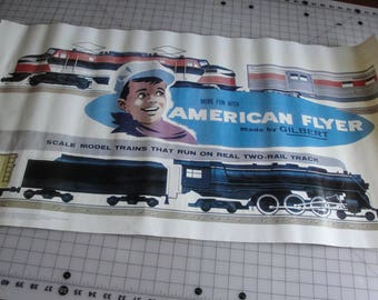 Vintage poster for American Flyer model trains by Gilbert dated 1982