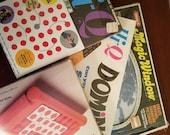 A lot of 5 vintage Hi-Q games plus Magic Window. Rainy day fun!