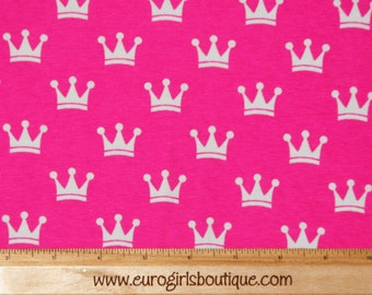 Knit pink crowns New 1 yard cotton spandex