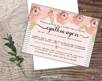 Bridal custom handmade cards  invitation wedding shower invite  bride personalized bride shower invitation